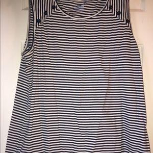 Women's Basic Editions striped blouse